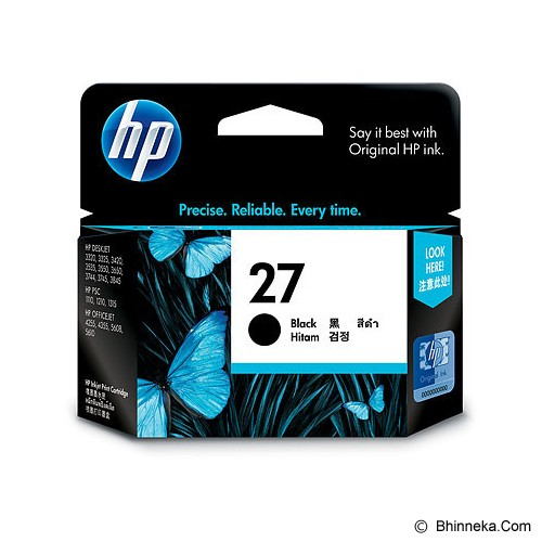 HP Black Ink Cartridge 27 [C8727AA] - Tinta Printer Hp